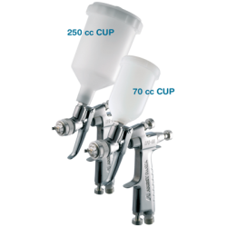 Anest Iwata LPH-80 Gravity Feed Spray Gun with 1.2mm Nozzle 250 & 70cc Cups