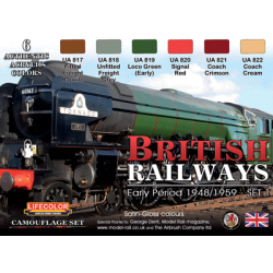 LifeColor British Railways - Early Period 1948/1959 - Set 1 (22ml x 6)