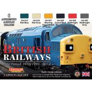 LifeColor British Railways - Late Period 1970/1990 - Set 3 (22ml x 6)