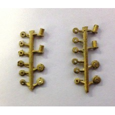 O gauge Crank Pin Nuts for Slaters Steam loco wheels