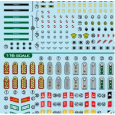 1/16 & 1/35 WWII German Military Insignia Decal Set