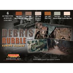 LifeColor Debris & Rubble Set (22ml x 6)