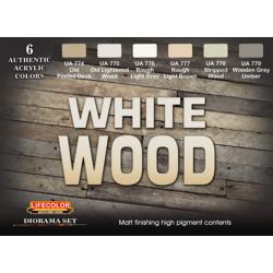 LifeColor White Wood Set (22ml x 6)