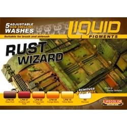 Lifecolor Liquid Pigments Rust Wizard set