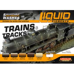 LifeColor Liquid Pigments Trains & Tracks set